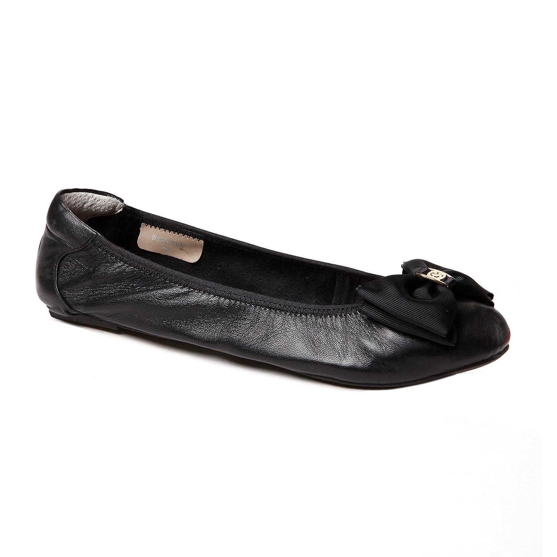 Cocorose Faltbare Schuhe Leder - Buckingham Damen Ballerinas Leder Schuhe Schwarz b30f59
