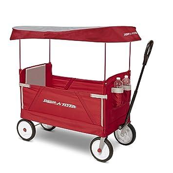 Amazon Com Radio Flyer 3 In 1 Ez Folding Wagon With Canopy For Kids