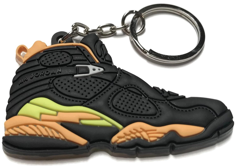 low priced 5c3f8 fb67f air jordan retro 8 black yellow orange keychain  Amazon.ca  Clothing    Accessories