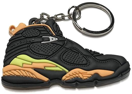 8fb62e2ed90 Air Jordan Retro 8 Black Yellow Orange Shoe Keychain: Amazon.co.uk: Clothing