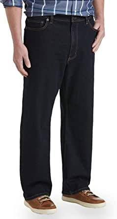 Amazon Essentials Men's Big & Tall Relaxed Stretch Jean fit by DXL