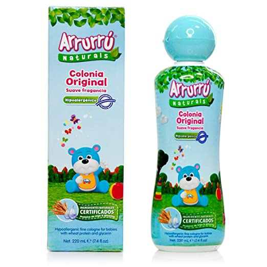 Amazon.com : Arrurru Naturals Original Cologne for Babies~Colonia Original Ninos 7.4oz : Baby Bathing Products : Baby