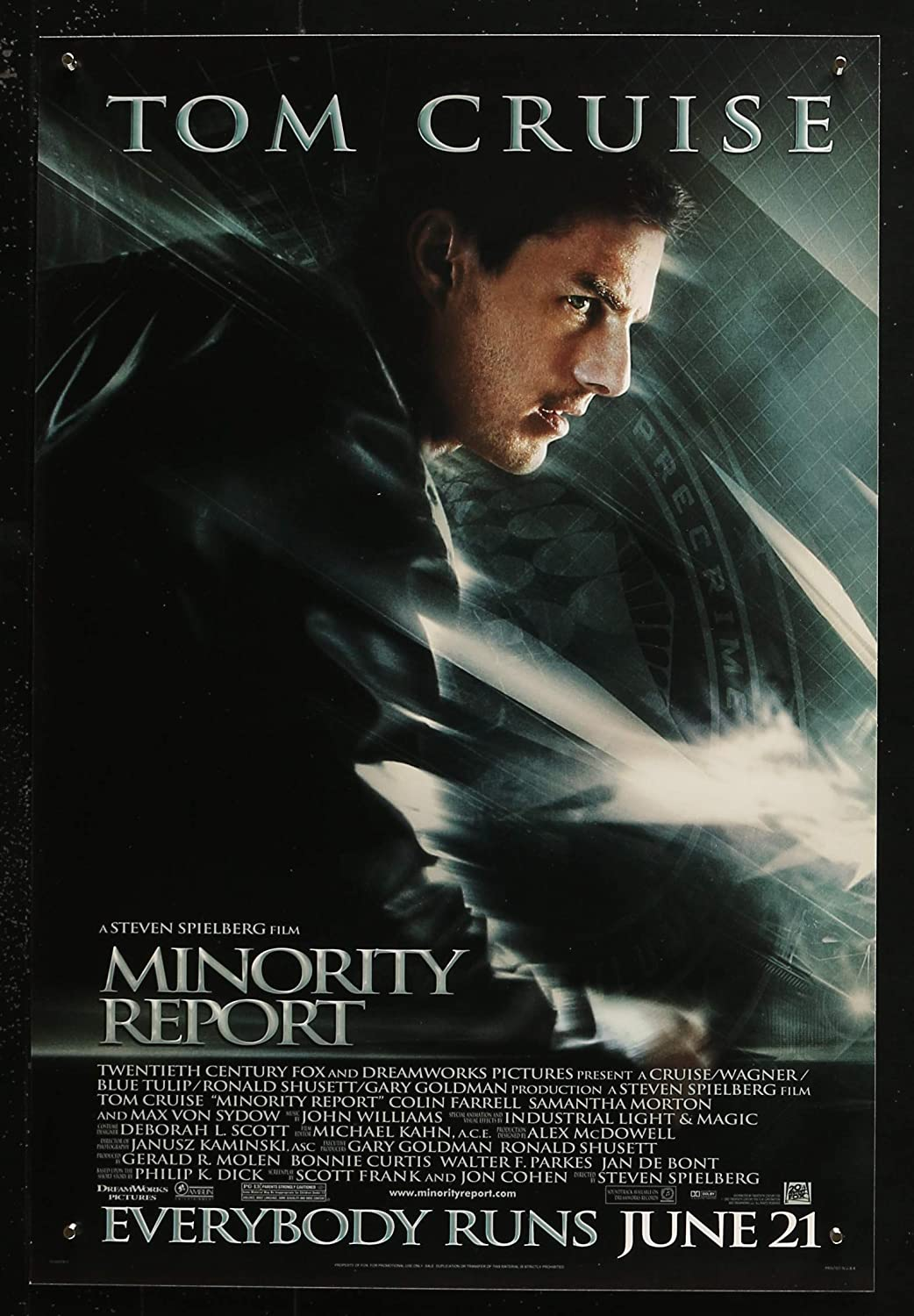 "MINORITY REPORT - 13.5""x20"" Original Promo Movie Poster 2002 Tom Cruise  Steven Spielberg at Amazon's Entertainment Collectibles Store"