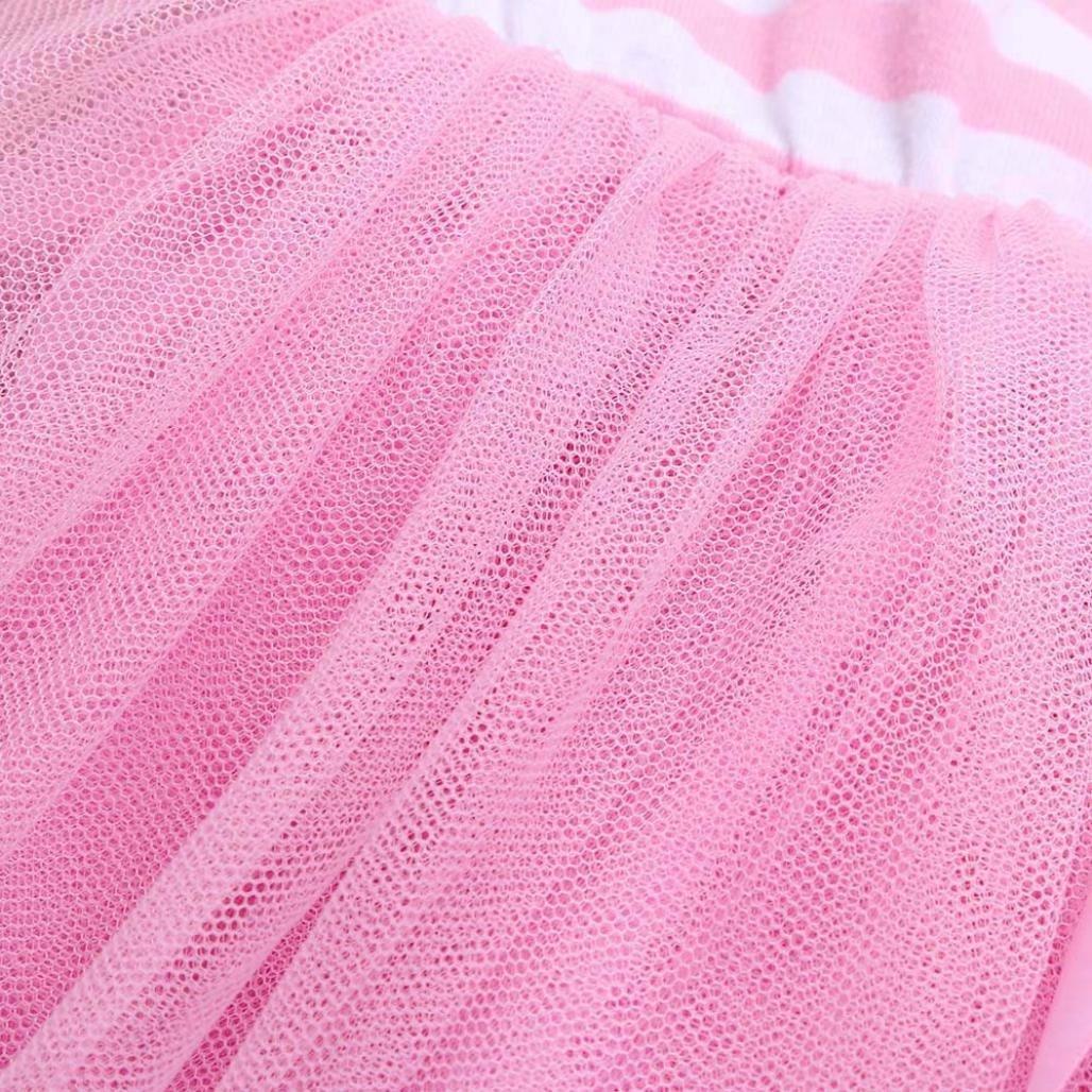 Amlaiworld M/ädchen /Ärmellos Pferd drucekn Shirt Flickwerk T/üt/ü Mehrschichtig flauschig r/öcke Kinder locker Sport Kleider Baby Sommer Strand gestreift Mini Kleid,1-6 Jahren alt