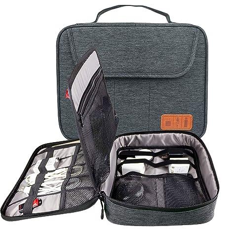 9d92a9e86e HoYiXi Borsa per Cavi Organizzatore da Viaggio per Dispositivi Elettronici  e Accessori Cavi Caricabatterie Plugs Universale