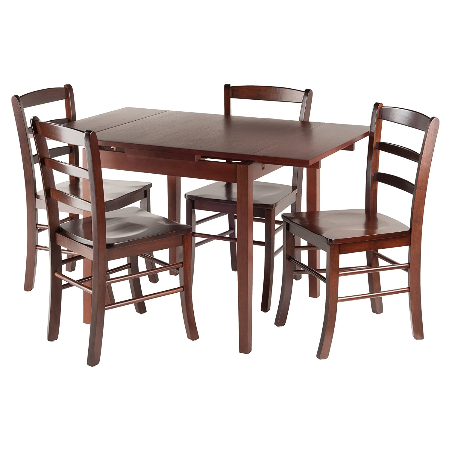 Amazon Winsome Wood Pulman 5 Piece Set Extension Table with