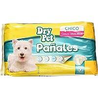 Dry Pet Pañales, Chico, 12 Piezas