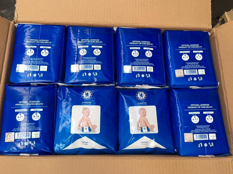 Chelsea FC - Pañales para bebé (tamaño 4-11 kg, 192 unidades), diseño de bebé: Amazon.es: Bebé