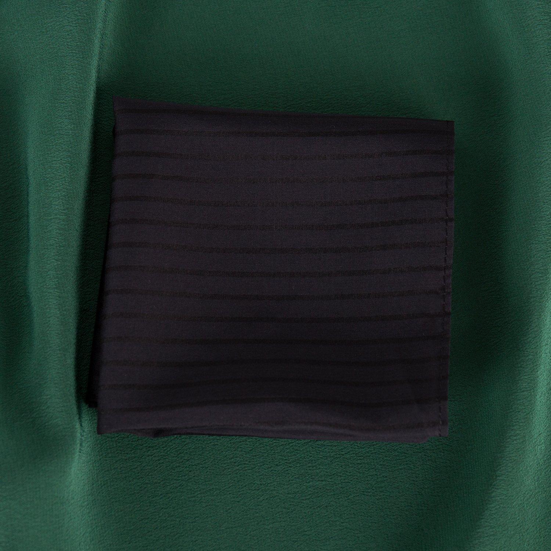 ZESTILK Silk and Cotton Handkerchief (Stripe Black) SCH08 by ZESTILK (Image #3)