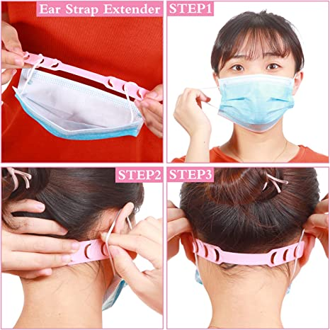 Engilent 15PCS Colorful Mask Extender,Anti-Tightening Holder Hook Ear Strap Accessories Ear Grips Extension Mask Buckle Ear Pain Relieved