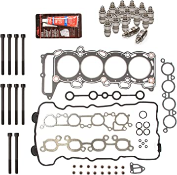Head Bolts Lifters Evergreen HSHBLF3021 Lifter Replacement Kit Fits 96-04 Infiniti Nissan Pathfinder 3.3 VG33E Head Gasket Set