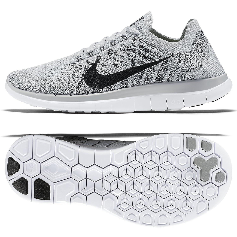 on sale a41da bd5cc Nike 4.0 Flyknit de los Zapatos Corrientes Libres 10 M US Blanco   Amazon.es  Zapatos y complementos