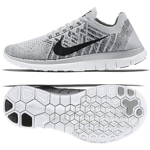 on sale c9060 420d1 Nike 4.0 Flyknit de los Zapatos Corrientes Libres 10 M US Blanco   Amazon.es  Zapatos y complementos