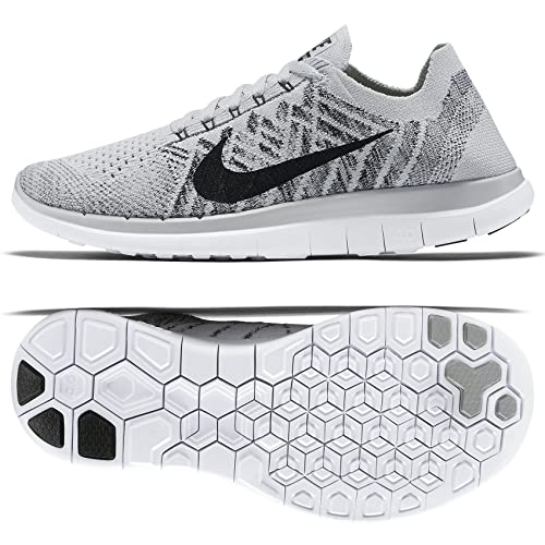 the best attitude 71a16 1b0cb ... clearance nike free 4.0 flyknit 717076 005 pure platinum black white womens  running shoes 09857 e9b39