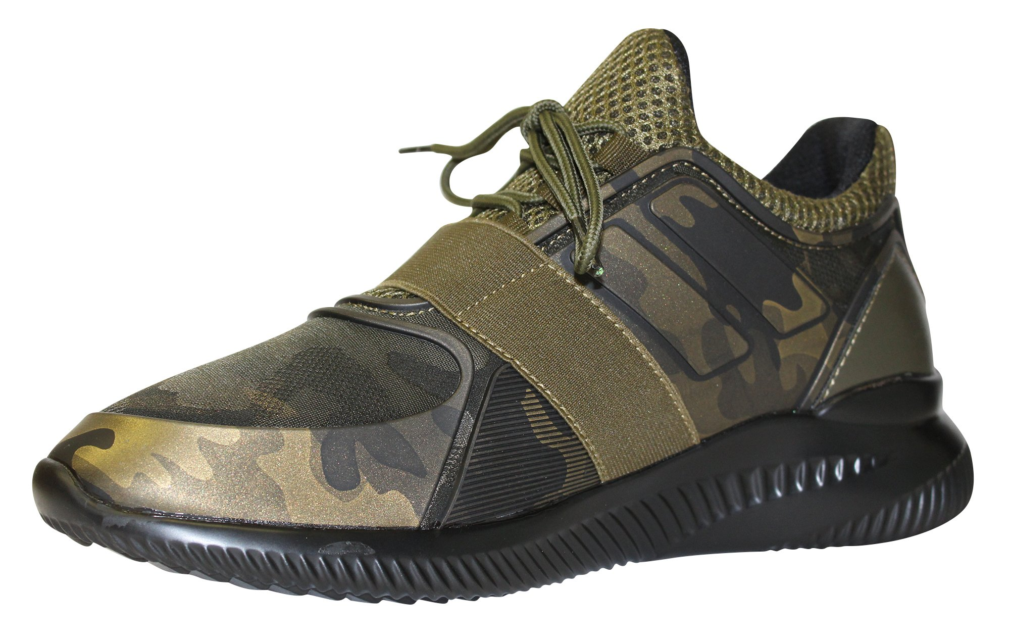 68f75ba9aae3a2 Javi Men s Combo Camouflage Rubber Detail With Elastic Band Sneaker