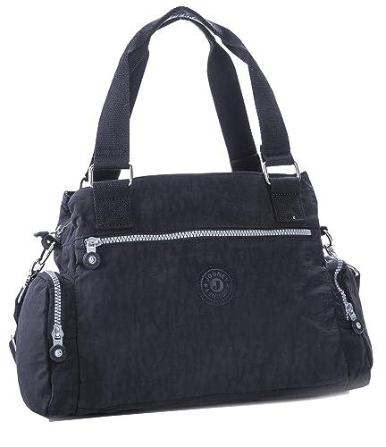 Big Handbag Shop Rainproof Fabric Medium Lightweight Multi Compartment Baby Shoulder  Bag (Black) d381e4705b1e1