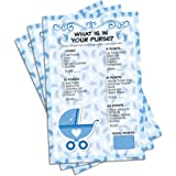 Blue Boy Baby Shower Game - What's In Your Purse (Set of 20)