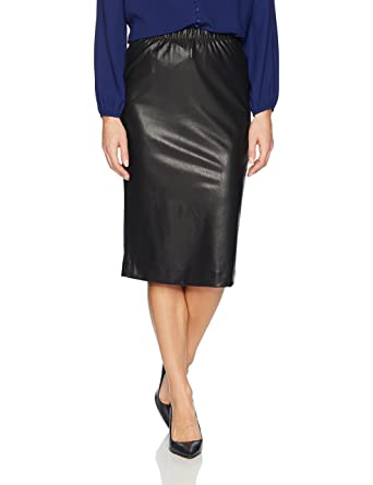 ec2b8c11f8 BCBGMAXAZRIA Women's Lyric Knit Faux Leather Pencil Skirt, Black XS