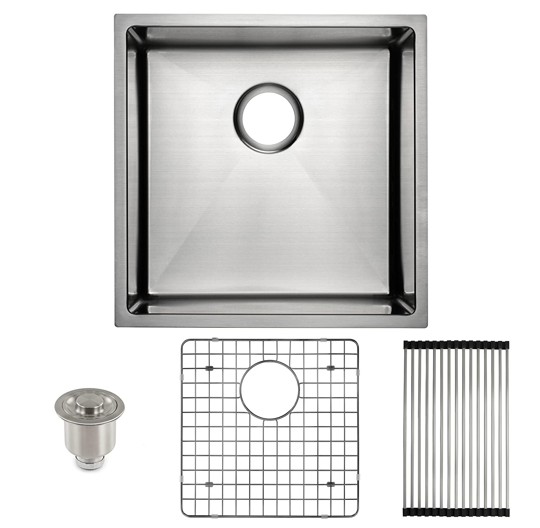 Frigidaire Undermount Stainless Steel Kitchen Sink, 10mm Radius Corners, 16 Gauge, Deep Basin, 19