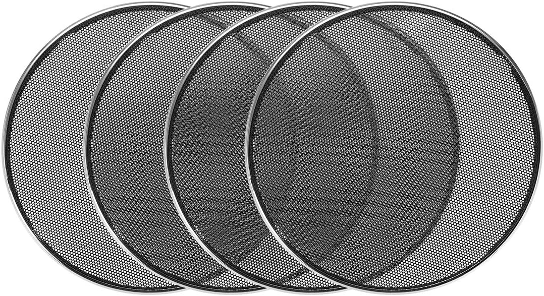 uxcell 4pcs 6.5 inches Speaker Grill Mesh Decorative Circle Woofer Guard Protector Cover Audio Parts Silver