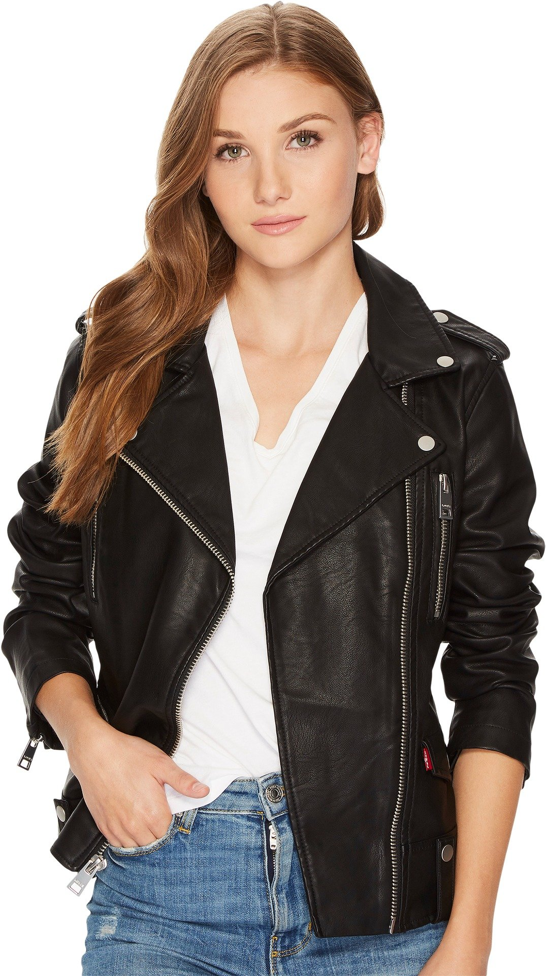 Levi's Women's Contemporary Asymmetrical Motorcycle Jacket, Black, Large