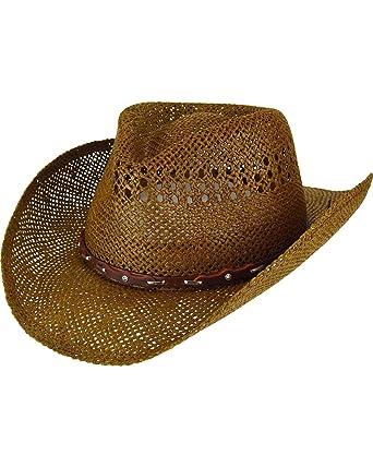 236e0571f611 Eddy Bros. Men's Mingo Apache Leather Band Cowboy Hat - S17e01 at ...