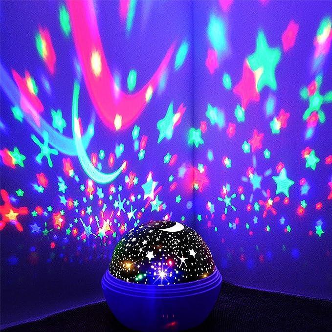 Amazon.com: Proyector de luz nocturna, lámpara de noche ...