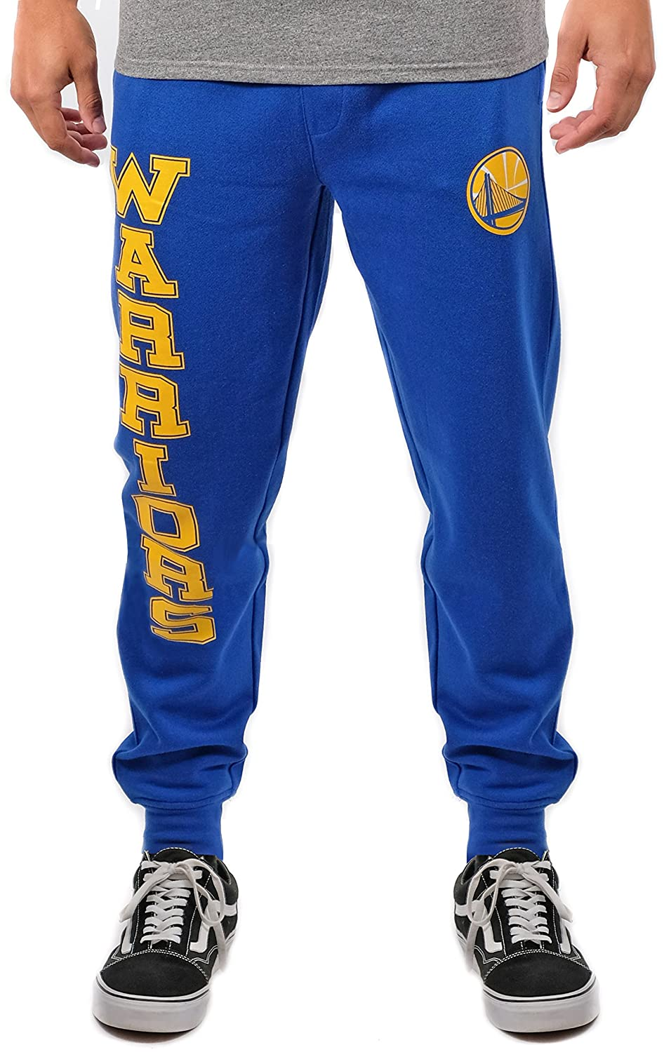 (Golden State Warriors, X-Large) - UNK NBA Men's Jogger Pants Active Basic Soft Terry Sweatpants, Team Colour   B076LQHCT4