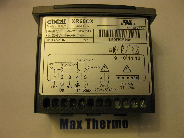 Nueva dixell xr60cx-4 N0 C0 controlador 110 V controlador de refrigeración: Amazon.es: Amazon.es