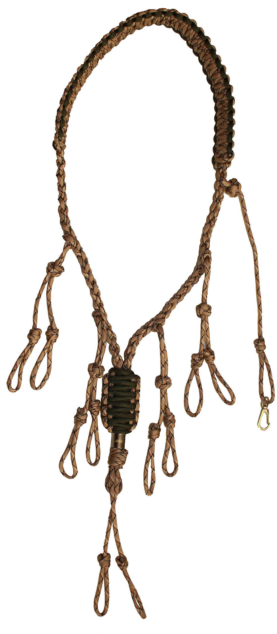Duck Call Lanyard – Secures 5 Calls – Premium Hand Braided Camo 550 Paracord – Best for Goose, Predator, Varmint, Deer or Duck Calls – Adjustable Loops - Outdoor Hunting Gear – Protect your investments - Lifetime No-Hassle Free Replacement Guara