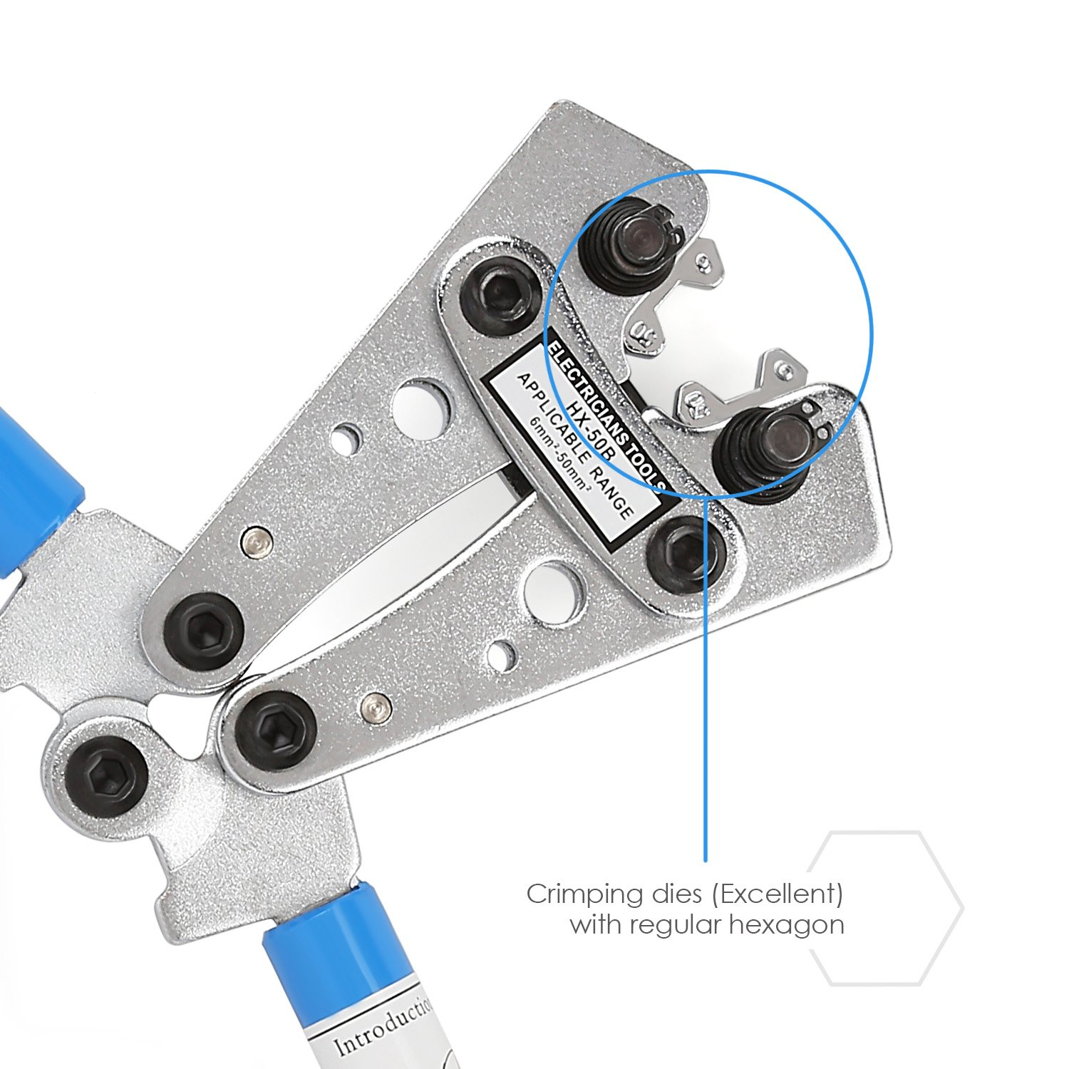 Amzdeal Cable Crimper Cable Lug Crimping Tool Wire Crimper Hand ...