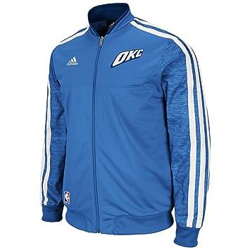 NBA Oklahoma City Thunder Pista Chaqueta de Calentamiento casa día de la Semana, Hombre, Azul: Amazon.es: Deportes y aire libre