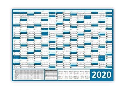 Xxl Wandkalender Wandplaner 2020 Blau Gerollt Din A0 Format 1189 X 841 Mm Mit 14 Monaten Kompletter Jahresvorschau Folgejahr Und