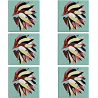Maxwell & Williams Pete Cromer Cork-Backed Coasters for Drinks / Coaster Set with 'Echidna' Design, Ceramic / Cork…