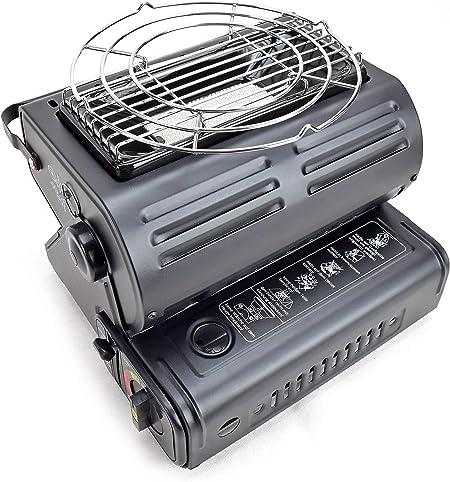 RSonic - Calefactor de gas portátil giratorio 90°, cerámica, 1,3 kW, para exteriores, camping, pesca