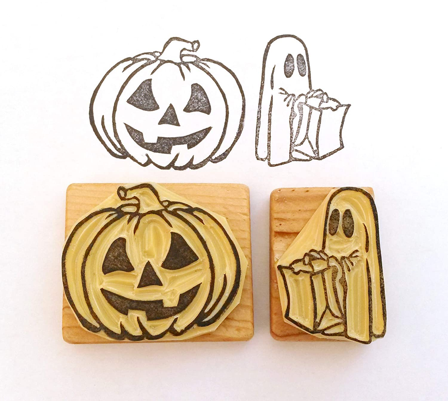 Halloween - Hand Carved Rubber Stamp Set [1540913077-200322