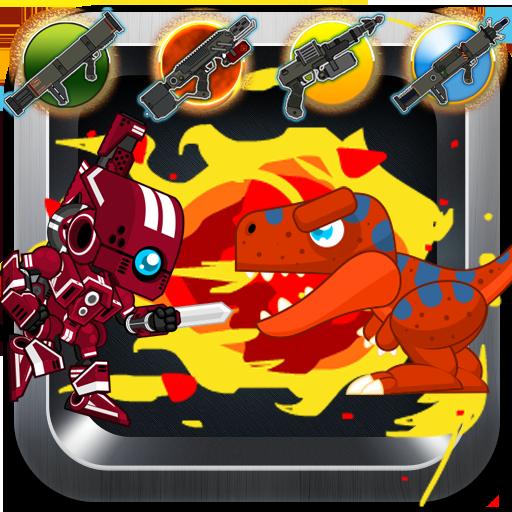 Red Rangers Robot VS Dinosaurs (Power Ranger Games Power Ranger Games)
