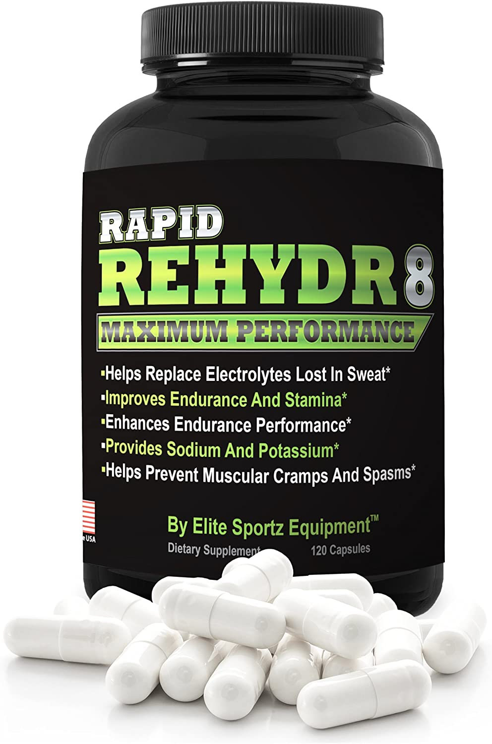 Elite Sportz Electrolyte Tablets Stop Leg Cramps Fast - Our Electrolyte Supplement Will End Your Cramp Issues and Allow You to Compete Like Never Before. 120 Salt Pills - Easy to Swallow Salt Tablets
