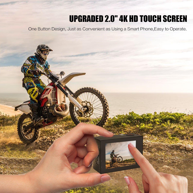 Cámara Deportiva Wifi DV Cámara de acción Videocámara 4K Ultra HD 2.0
