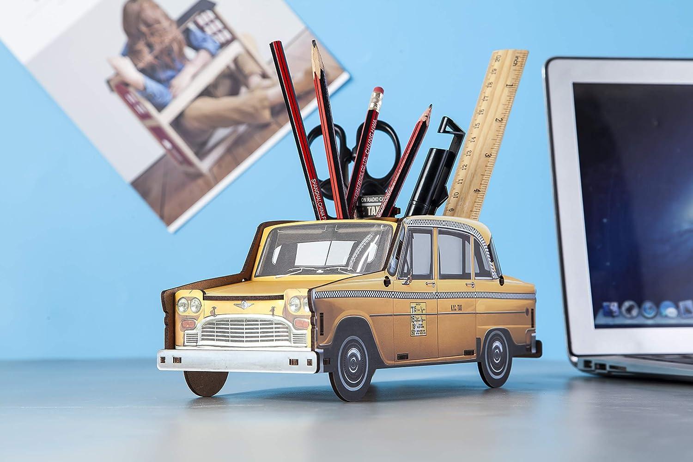School car DecentGadget Pen Pot Bus Car Pen Holder Desktop Organizer Pencil Box Stationery