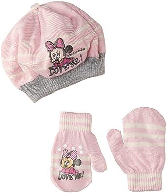 Disney Minnie Mouse NH4171, Bonnet Bébé Fille, Rose (Pink Lady Grey ... 01aa0c1afce