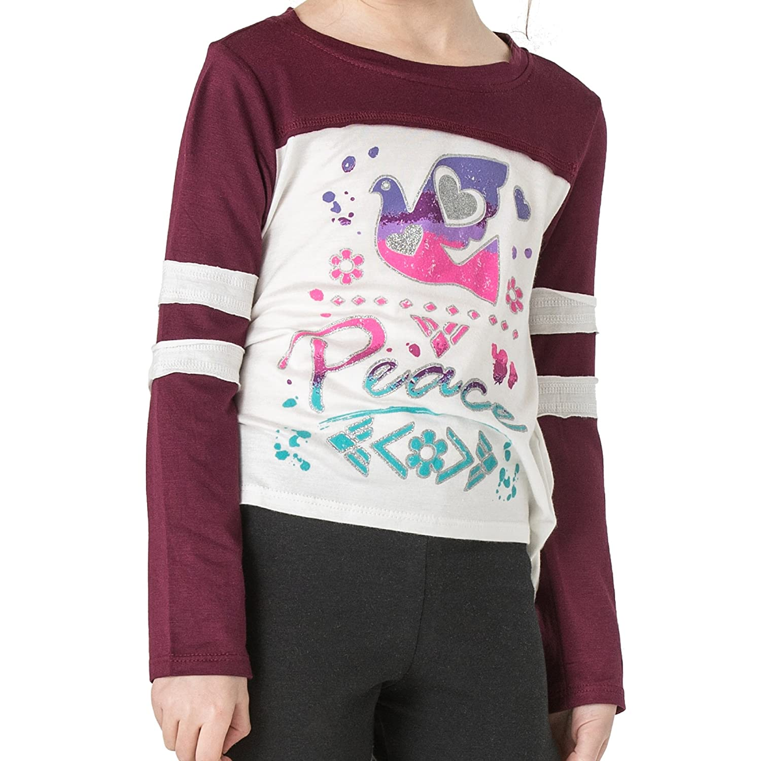 FASHION X FAITH Girls Long Sleeve Shirts Jessica Silky Soft Jersey Top Tees Clothes Made in USA