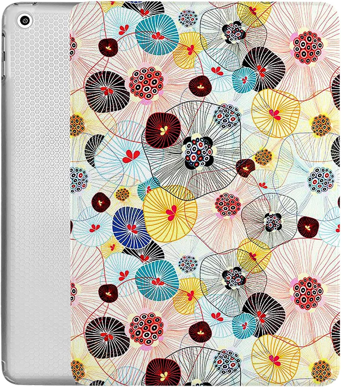 DuraSafe Cases For iPad 9.7 Case 2014 iPad Air 2nd Gen Slim Smart Protective Cover Soft TPU Honeycomb Clear Back & Viewing/Typing Stand for iPad 9.7