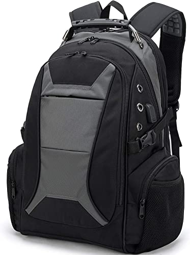 Backpack with Laptop Compartment, Large Travel Laptop Backpack Fits up to 17.3 Inch Laptop with USB Charging Port for Women Men Business College High School