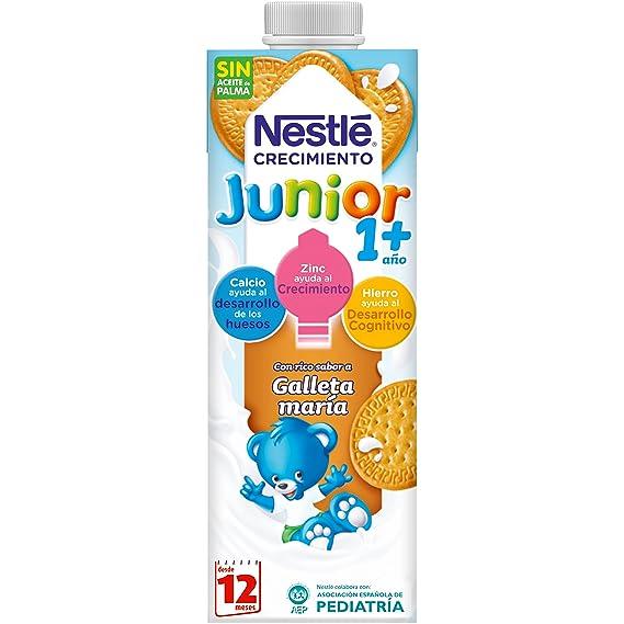 Nestlé Junior 1+galleta María - Leche para niños a partir de 1 año -