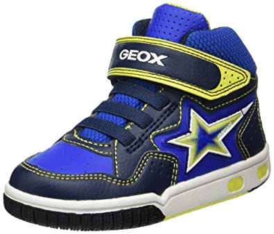 a38a871b Geox Boys' Jr Gregg a Hi-Top Trainers, Blue