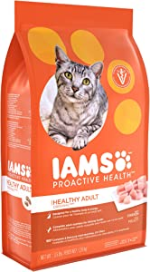 Iams Dry Food Proactive Health Adult Original with Chicken Dry Cat Food, 3.5 Pound