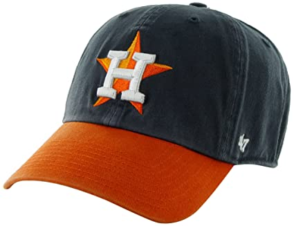 b2b892f04eb Image Unavailable. Image not available for. Color  MLB Houston Astros  47  Brand Clean Up Adjustable Cap-2013 Road Style
