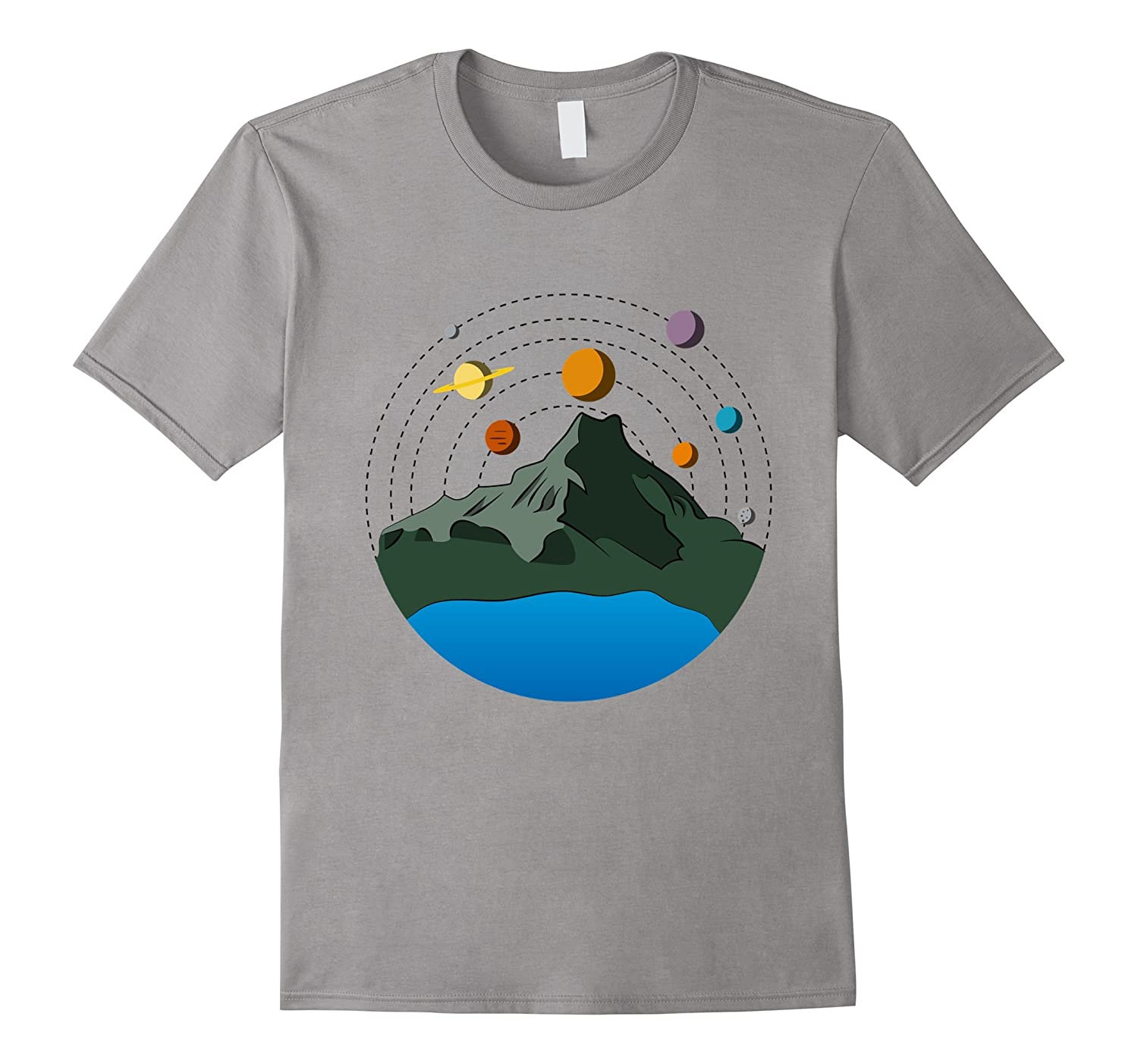 Earth Planet Mountain Solar System Funny Science Biology Tee-TJ