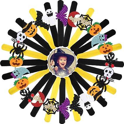 Pumpkin Halloween Carnival Kids Birthday Party Favor Black Metal Backpack Clip